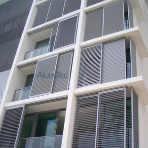 Aluminum Sliding Louvre Shutter Window