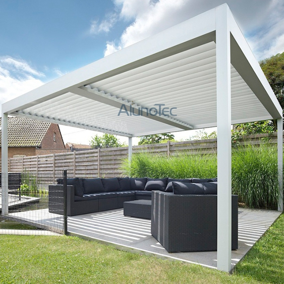 Modern Design Free Standing Pergola With Side Screen Buy Free