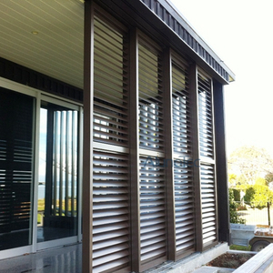 Aluminum Sliding Patio Shutter Door