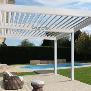 Waterproof Aluminum pergola System With Side Sun Screen