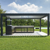 Powder Coating Motorized Opening Roof Shading Cover Pergola For Patio