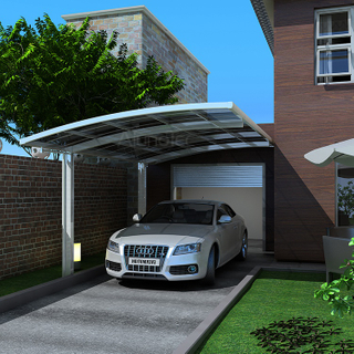 Polycarbonate Sheet Double Car Shelter Outdoor Carport Canopy With Arch Roof