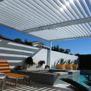 Wall Mounted Louvres Roof Pergola Kits