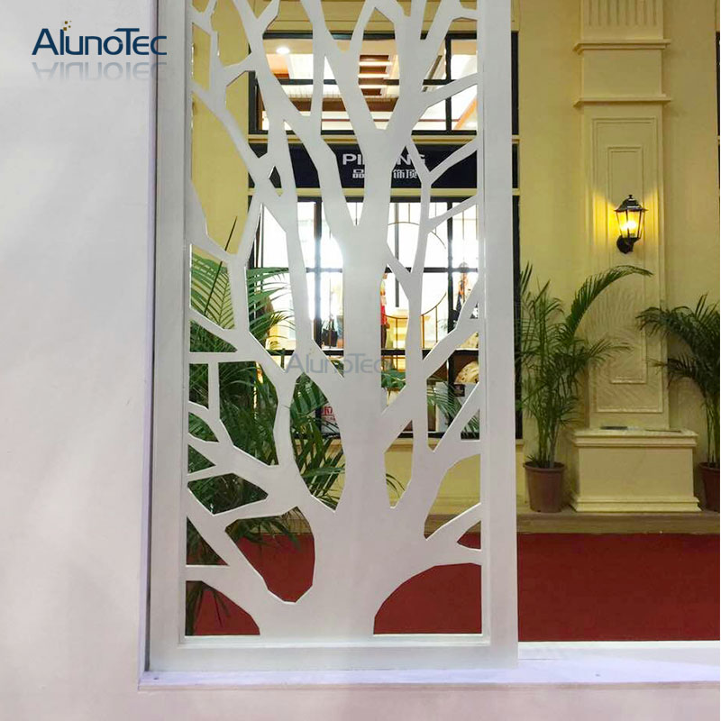 Indoor Decoration Laser Engrave Panel Perforated Metal Partition Panel