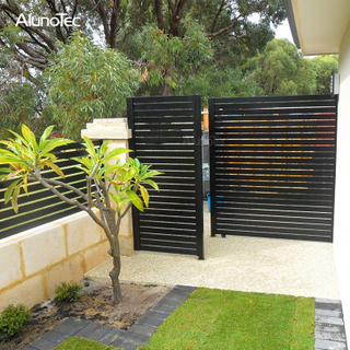 Vertical Aluminum Fencing Garden Gate Panel Privacy Fence Slat