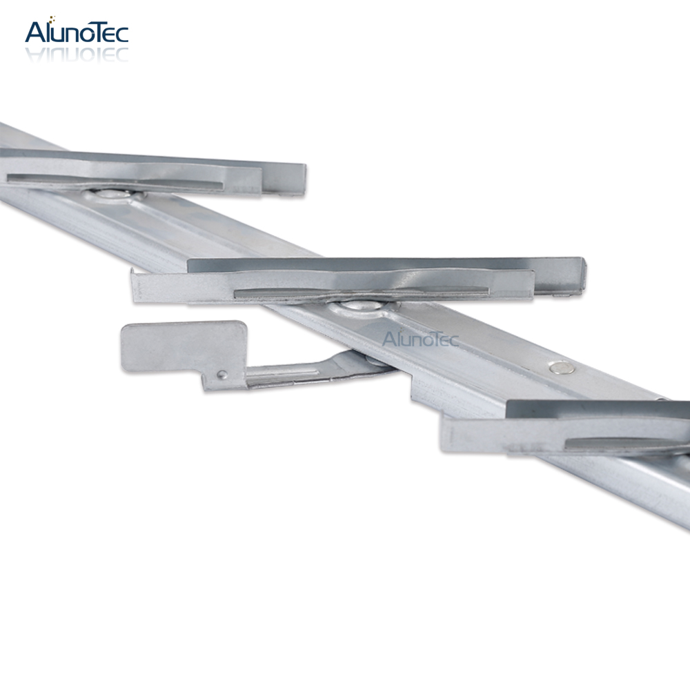 Aluno SF-500 6' Blade Galvanized Glass Window Louvre Frame