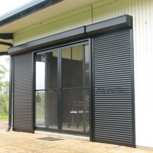 Aluminum Roller Shutter window Jalousie Louvre Window Safety Louvre Blades Door