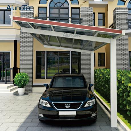 Snow Resistance Polycarbonate Roof Aluminum Carport Buy Single Carport Polycarbonate Carport Waterproof Carport Product On Alunotec