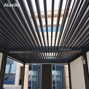 Unique Design Motorized Bioclimatic Pergola Louver Blade Roof System For Patio