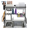 Black Stainless Steel 65cm Space Design Kitchen Drying Stand Drainer Dish Rack Over Sink
