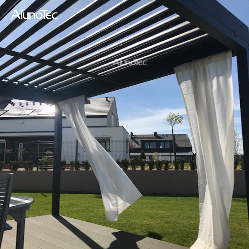 DIY Freestanding Rainproof Electric Pergola Opening And Closing Louver Roof