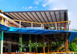 Motorized Retractable Awning For Outdoor Restaurant- Project From Palau