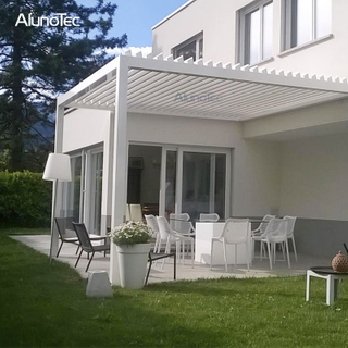Retractable Sunshades Gazebo Louvered Roof Pergolas For Outdoor