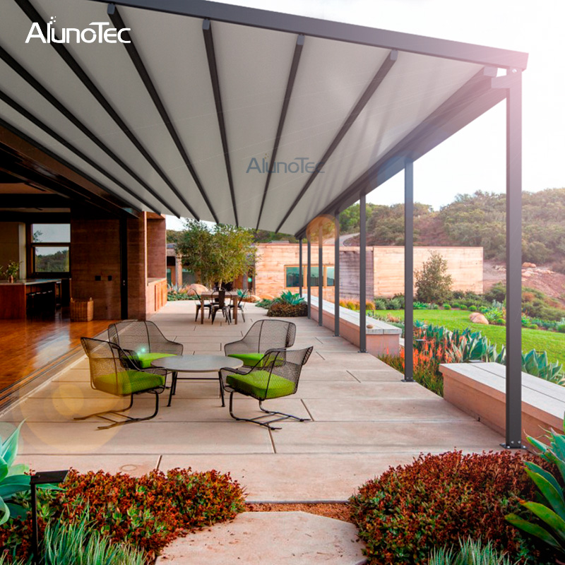 Electric Control Waterproof Aluminium Retractable PVC Roof Awning