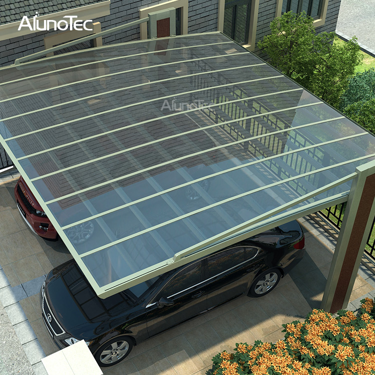 Modern Aluminium Frame Carport Rain Resistant For Car Parking Lot
