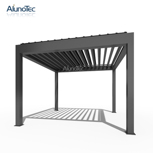 Outdoor Garden Awning Aluminum Gazebo Pergola For Coffee Shop