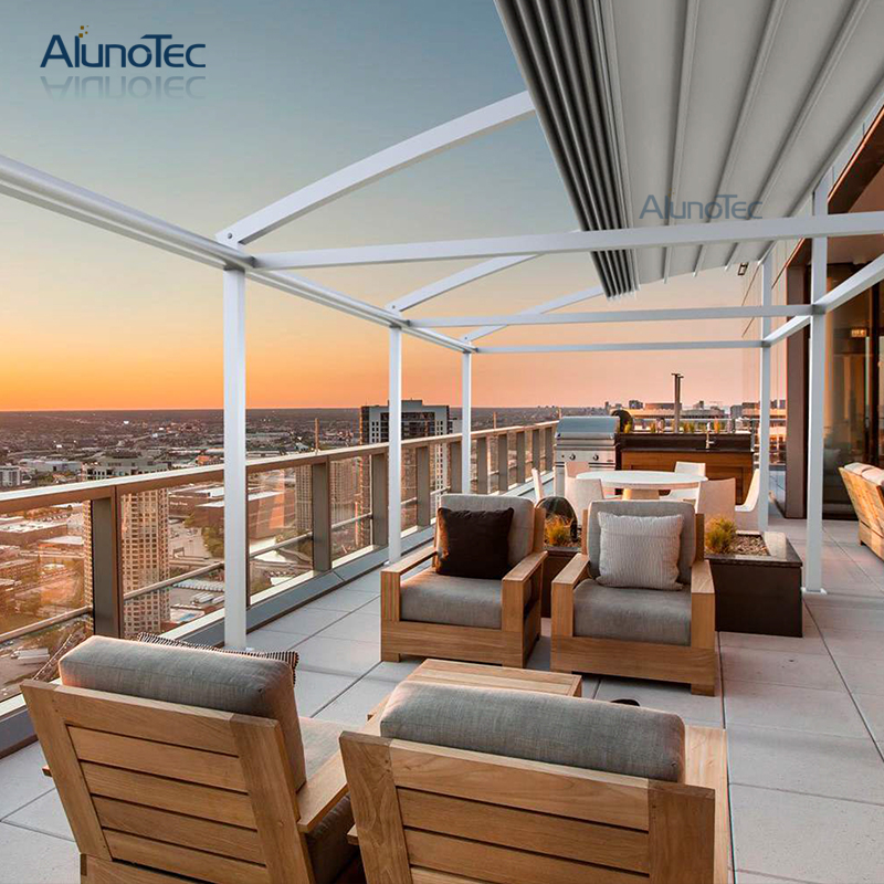 Retractable Gazebo Roof Awning For Living Space