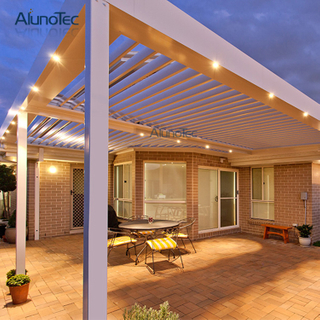 Waterproof Louver Roof System Outdoor Gazebo Garden Bioclimatic Aluminum Pergola