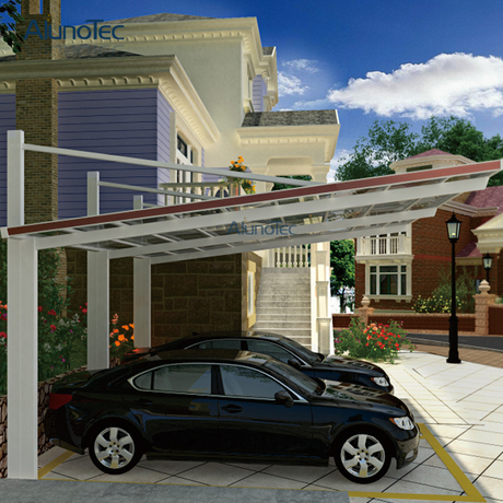 Good Quality Aluminum Flat Roof Metal Sun-Shading Carport For Home