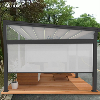 Electric Adjustable Retractable Louvered Roof For Swimming Pool
