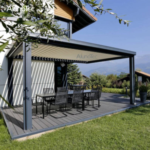 Automatic Outdoor Electric Pergolas Louvered System Opening Roof Pergola