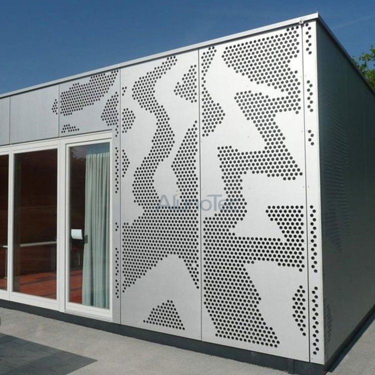 Perforated Metal Facade Aluminum Cladding Panels