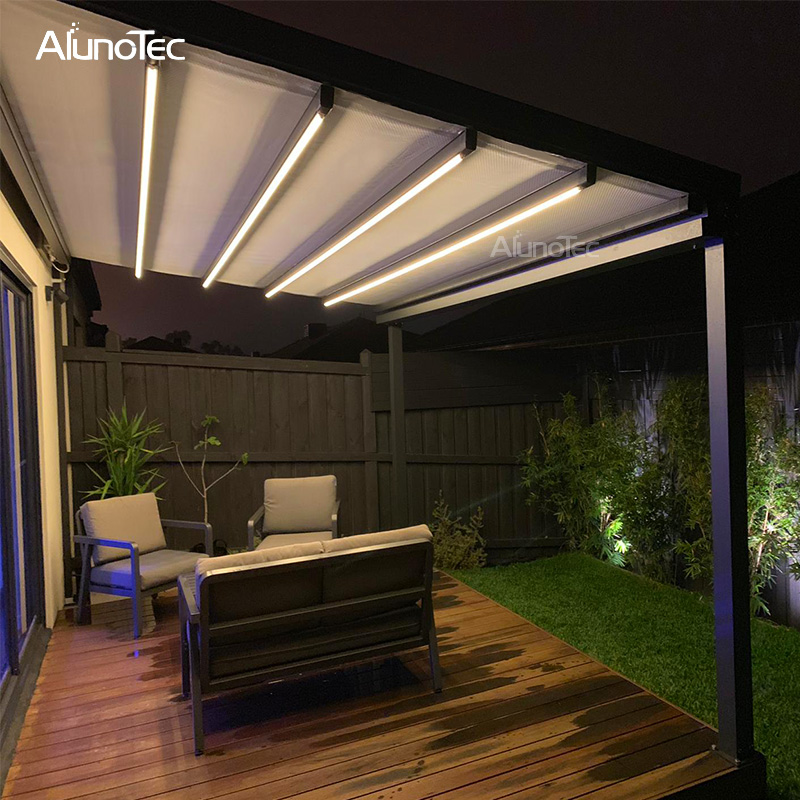 Large Outdoor Shade Gazebo Balcony Roof With Electric System