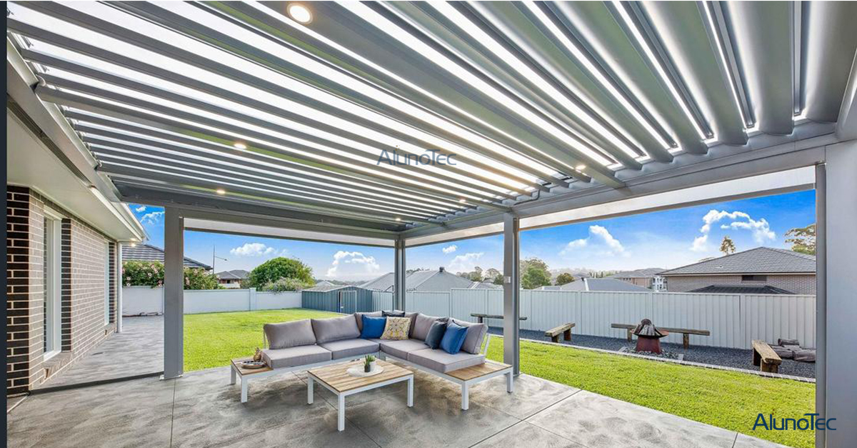 adjustable louvers patio cover