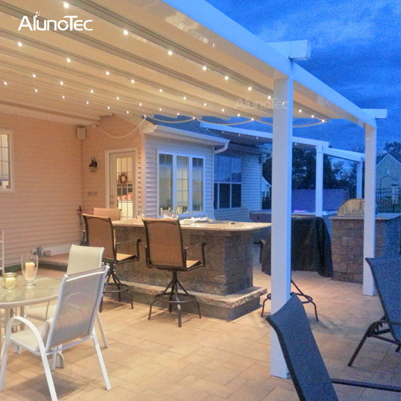 Electric Pergola Waterproof Outdoor Retractable Awnings For Garden