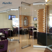 New Design Stainless Steel Glass Folding Wall Frameless Glass Partition