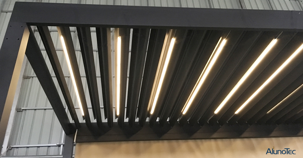 Aluminum Pergola With LED