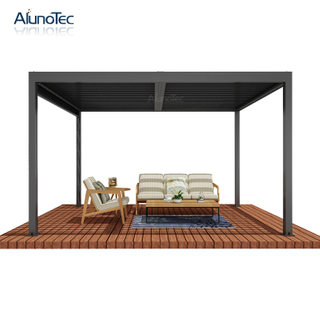Outdoor Waterproof Garden Gazebo Motorized Pergola Aluminum Louver Roof Systems