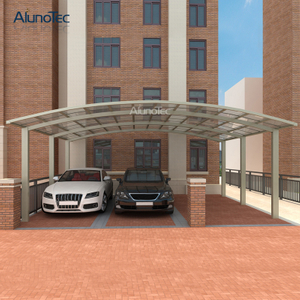 Customized Garage Luxury 4 Posts Waterproof Carport Alu Parking Aus Aluminium Door with Double Slop