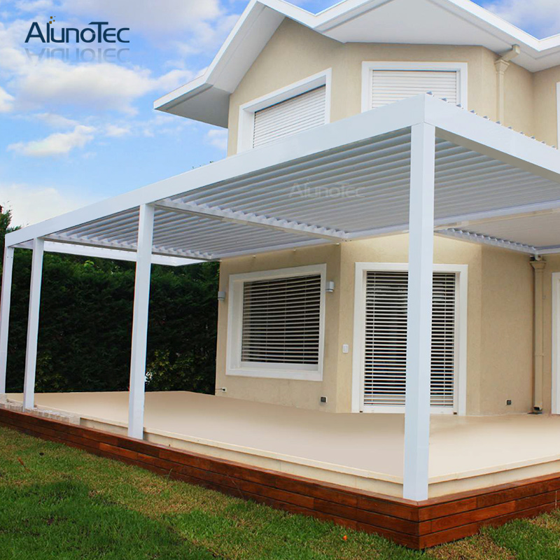 Diy Motorized Waterproof Pergola Canopy With Curtain - Buy ...