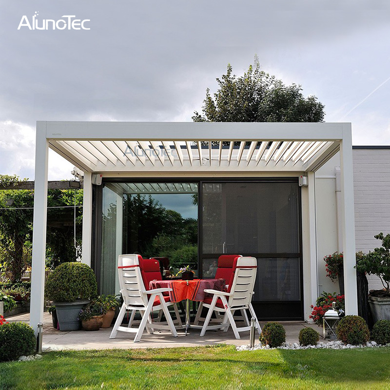 Direct Factory Waterproof Aluminium Pergola DIY Opening And Closing Patio Roof