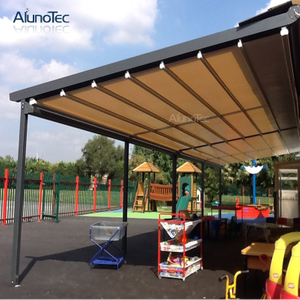 Waterproof Gazebo Retractable Roof BBQ Awning Roof