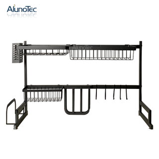 65cm Black Kitchen Stand Drying Holder Over The Sink Dish Drainer