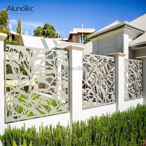 Art Decorative Carving Aluminum Perforated Metal Screen Door for Garden