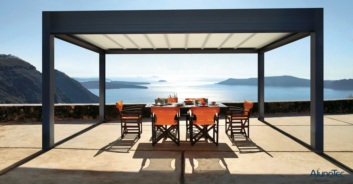 Aluminum Pergola with PVDF Coating to Resist Ocean Salty