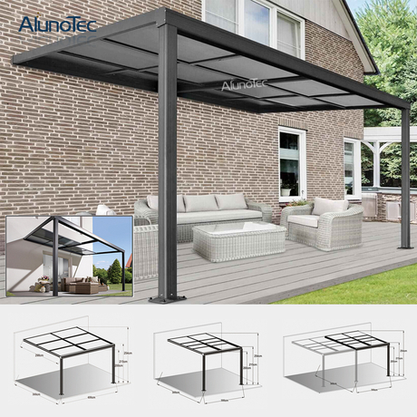 Garden Waterproof Patio Deck Awning Terrace Cover Retractable Roof