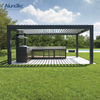 Low Price Motorized Aluminum Pergolas With Screens And Lights