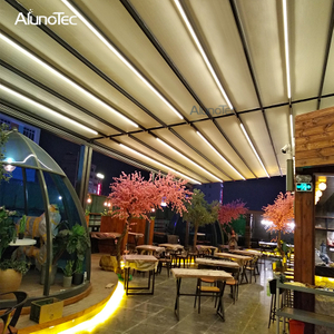 Waterproof Folding Retractable Roof Awning with Lights