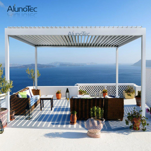 Waterproof Aluminum Pergola Adjustable Gazebo Plegable With Led Lights Gazebo