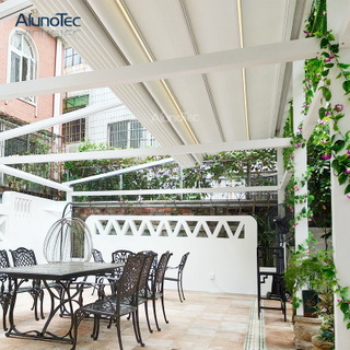 Waterproof Electric Garden Aluminum Gazebo Retractable Awning For Patio
