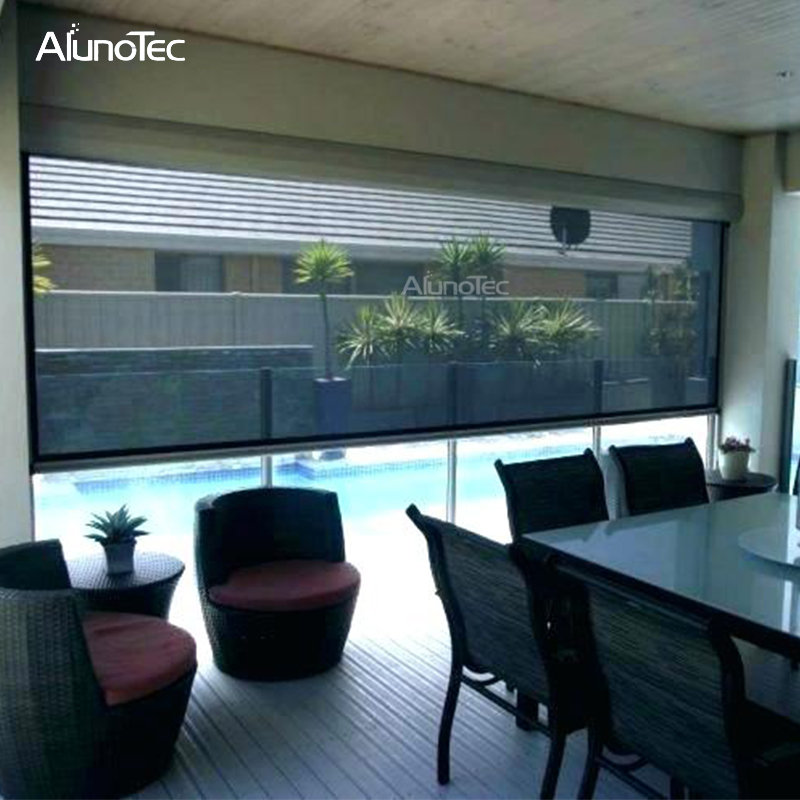 Garden Automatic Privacy Blinds Operator Sunshading Blinds For Pergola