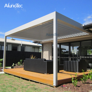 Rectangular 3x3 Electric Adjustable Gazebo Alunotec Pergola For Decking