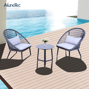 Outdoor Garden Furniture Patio Rope Sofa Chair & Table Set