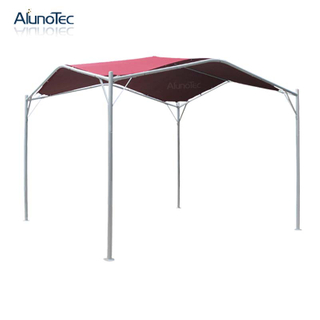 3.5x3.5 Garden Sun Shade Steel And Fabric Patio Awning With Pu Coated Frame