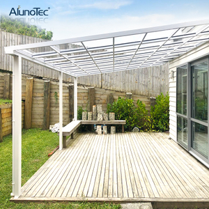 Polycarbonate Roof Aluminum Frame Gazebo Sun Shed Patio Awning