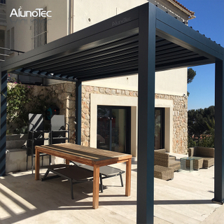 Motorized Patio Cover Aluminum Garden Pergola Louver Roof Gazebo on Deck